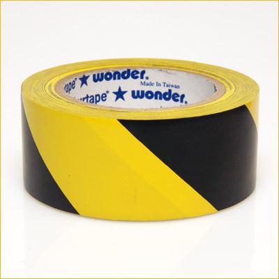 "VP 415 3"" Black/ Yellow Hazard Stripe Tape"